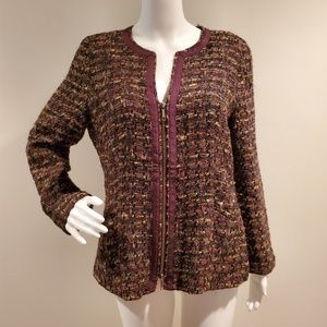 Lafayette 148 Wool Blend Boucle Jacket Blazer 8